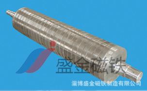 盛金磁铁锰矿除铁 干式磁选机 超强磁滚筒 供应定制16000GS