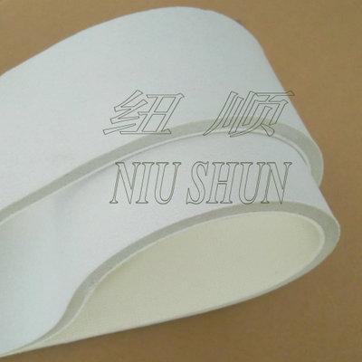 食品级白色海绵输送带 海绵输送带专用食品运转带PU PE PVC传送带