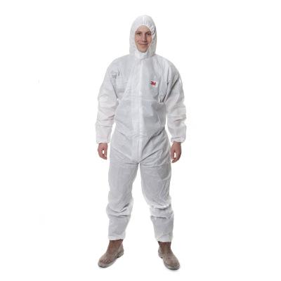 3M 4515白色带帽连体防护服 防护颗粒物及液体有限喷溅 防尘防化