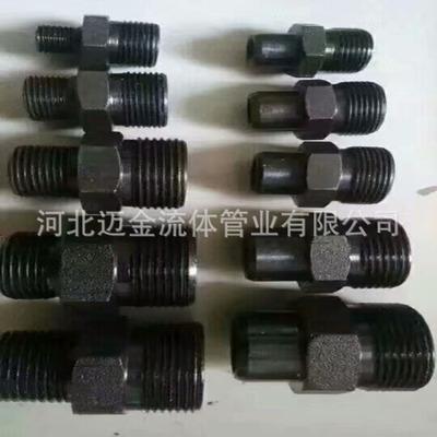 现货销售各种型号国标非标定做ABCDHE型液压对丝油管接头