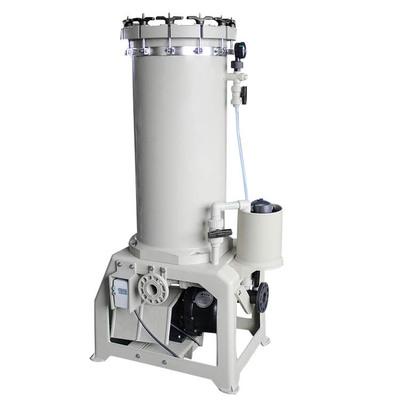 供应大流量耐酸碱30吨精密电镀PP过滤机 滤芯锁帽式活性炭过滤机