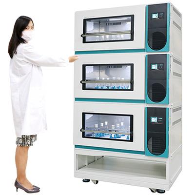 可叠加震荡培养箱,最多堆叠3层微生物恒温摇床,细胞培养摇床