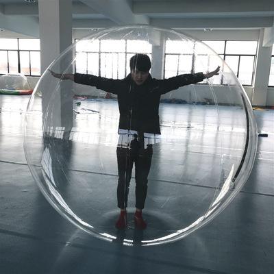 充气透明PVC水上步行球滚筒球舞蹈芭蕾跳舞球舞台透明球厂家直销