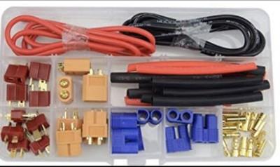 XT60    EC3  EC5  T型插头  电线   热缩管  组合套装