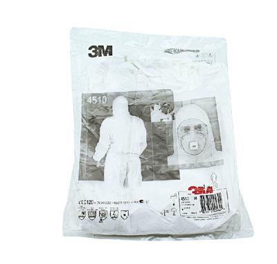 正品3M4515防护服 防尘服 连体带帽 透气 防尘 防化学 喷漆防护服