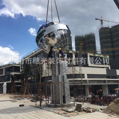 304不锈钢装饰球圆球 金色不锈钢球金属大球 不锈钢空心球加工
