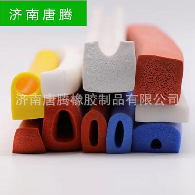 硅胶海绵发泡橡胶密封条 机械设备用耐高温阻燃硅橡胶发泡条