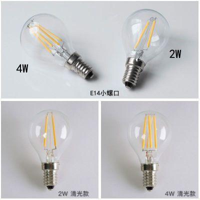 卧室床头台灯可调光节能led钨丝白炽小灯泡e27螺口2W4W6W暖黄灯丝