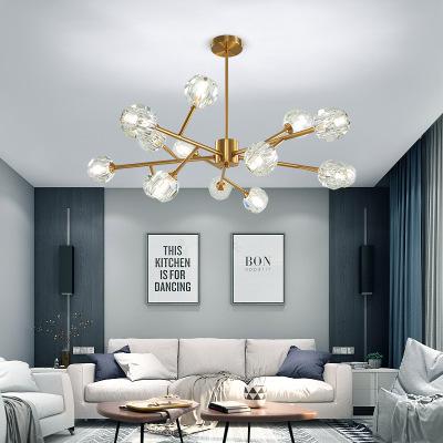 2019新款北欧现代简约分子吊灯客厅灯创意家用网红玻璃球餐厅灯具