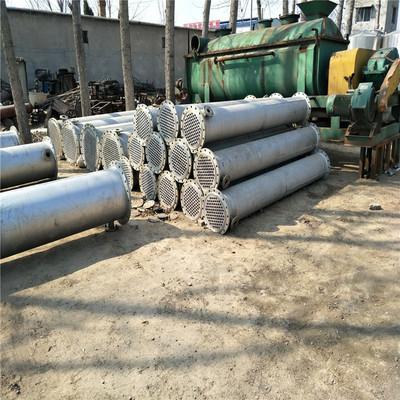 大量出售二手列管不锈钢冷疑器 高价回收耙式真空干燥机 定做储罐
