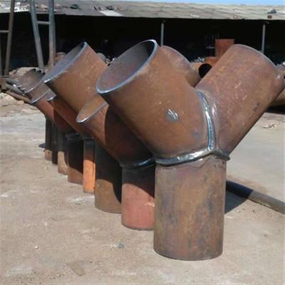 沧州厂家直销碳钢焊接Y型三通  异型三通 单筋加强焊三通