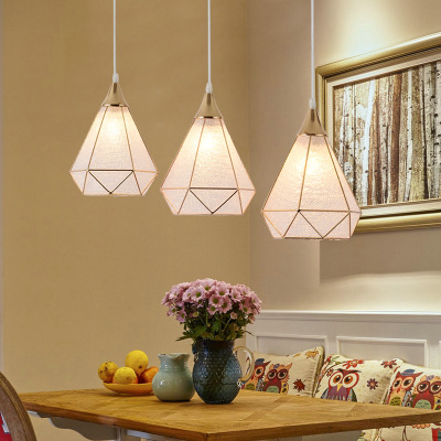 欧式饭厅餐厅三头吊灯创意个性现代简约吊灯过道走廊玄关LED吊灯