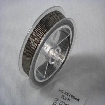 供应优质304不锈钢钢丝绳 316L不锈钢丝绳 钢丝绳加工订制