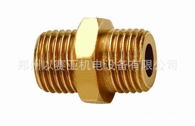 河南 松乔 气动接头 对丝 JZH -Z 组合式直通管接头 黄铜
