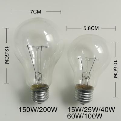 15w25w40w60w100w200w灯泡E27螺口钨丝白炽老式否1年灯泡黄光