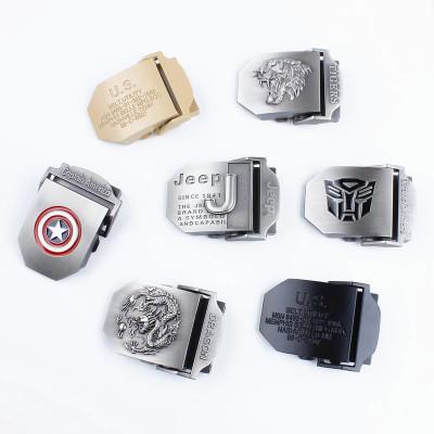单卖合金扣头不含带身 适合加厚帆布腰带使用 男自动扣可定制LOGO