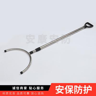 不锈钢伸缩钢叉 校园安防防护用品 保安防护器材
