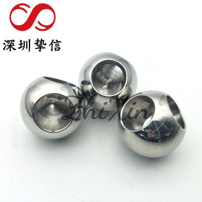 厂家供应不锈钢打孔钢球 25mm打孔攻牙钢球