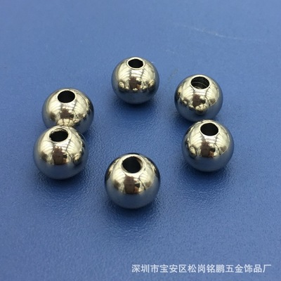 厂价直销  6X2.3不锈钢球 打孔珠 皮绳配件 饰品配件珠