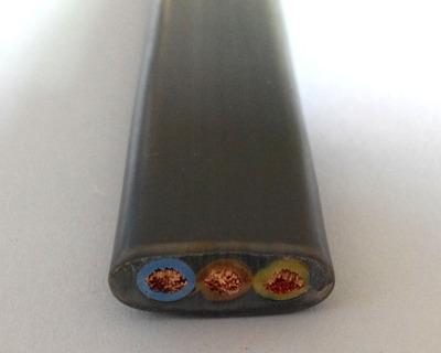 起重设备扁电缆 3*10mm2扁电缆 电动吊葫芦扁电缆 行车扁电缆