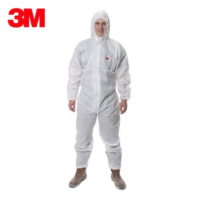 3M 4515带帽连体防护服 喷漆服防尘服透气工作服 防液体有限喷溅