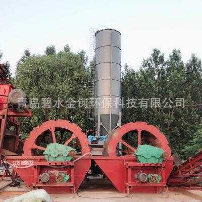 洗沙机整套设备 水轮旋转式洗沙筛沙生产线 螺旋洗砂机 轮斗式