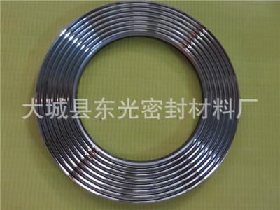 石墨四氟波齿垫 金属复合齿形垫片厂家 不锈钢石墨齿形垫厂家