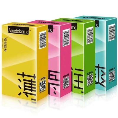 正品厂家直销铂金岗本薄爽润滑10只装避孕套计生用品家庭装安全套