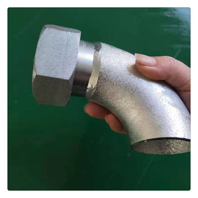 接头式金属软管焊接接头 螺母连接90度焊接弯头定制