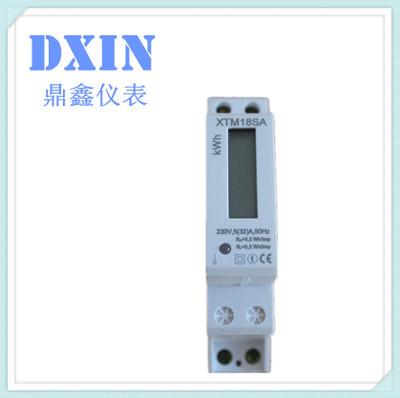 厂家直销  XTM18SA 导轨式 1P单相液晶电能表