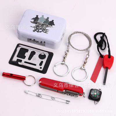 户外求生工具应急装备套装急救盒车载应急用品户外自救生存装备