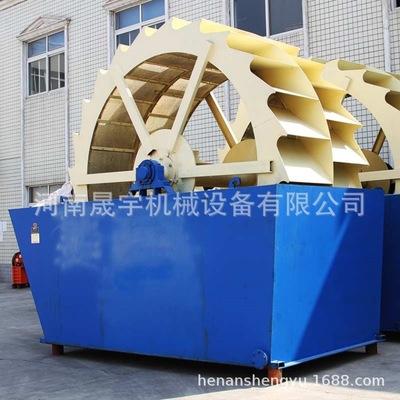 砂场大型轮式洗沙机 大型双螺旋洗砂机 水轮式石英砂洗砂泥设备