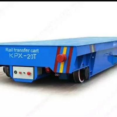 厂家供应5/10吨轨道电动平板车车间货物搬运蓄电池电动轨道地平车