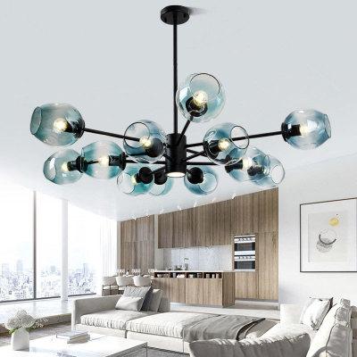 北欧风格灯具创意个性大厅分子灯后现代简约卧室餐厅魔豆客厅吊灯