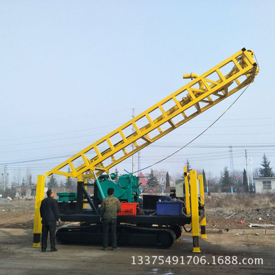 厂家直销 SPJ-300步履式磨盘回转式钻机 300米深孔大口径水井钻机