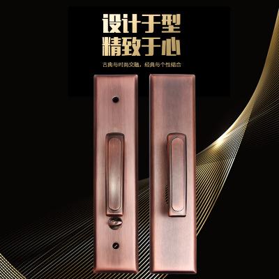 现代简约不锈钢执手锁机械静音门把手古铜色加厚大门拉手批发定制