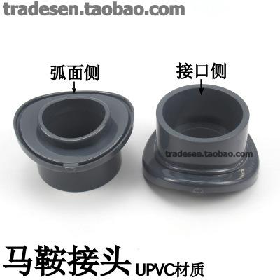 UPVC马鞍座 PVC马鞍接头 塑料鞍形增接口 弧形代三通 分水接头