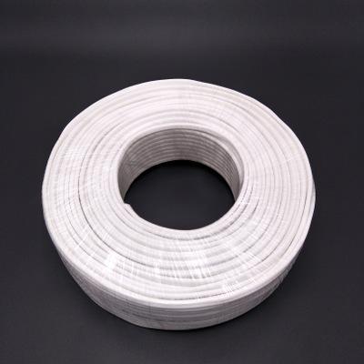 厂家直销 RVV白色护套线 纯铜芯软电线电缆 无氧铜双芯阻燃电源线