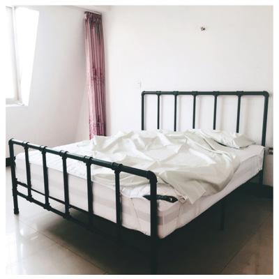 loft美式乡村铁艺床复古工业风格铁床水管接头铁艺床1.8米床架1.5