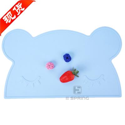 防滑耐磨易清洗安全环保硅胶餐垫 新款INS儿童宝宝小熊硅胶餐垫