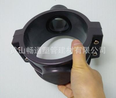 厂家定制钢塑管件增接口鞍形增接口鞍座分口器口径DE63-800mm 140