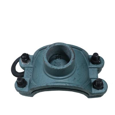 管道分水卡子 鞍形增接口球铁  铸铁分水卡子63-600