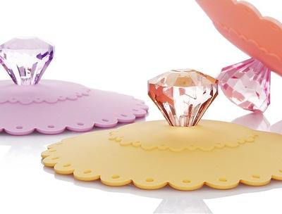 10cm杯盖   创意蕾丝花边钻石盖硅胶 防尘杯盖碗盖环保安全无毒