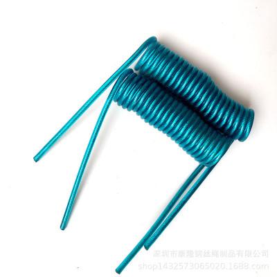 爆款不锈钢304弹簧钢丝工具绳加工 渔具潜水防失手绳包塑钢丝多色