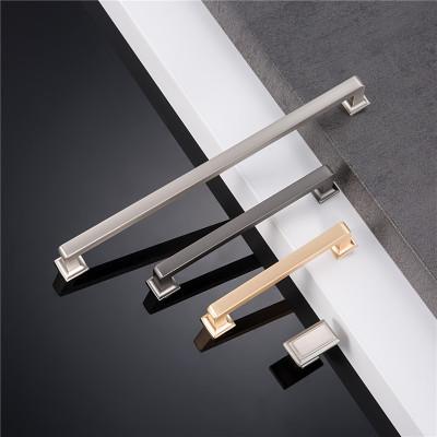 厂家直销金色拉手衣柜橱柜门把手北欧美式简约柜子抽屉锌合金拉手