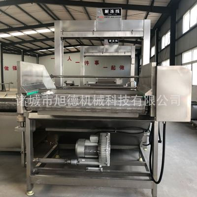 连续式解冻清洗机线提升式解冻机鸡鸭副产品解冻机常温水解冻设备