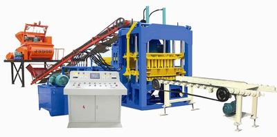 QT3-15透水砖机生产线 免烧彩色路面砖机 水泥制彩砖砖机生产线