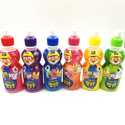 韩国进口啵乐乐水果味饮料6口味供选一箱24瓶*235ML