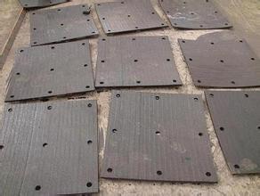 广东中山广州复合耐磨钢板    堆焊复合耐磨板12+6