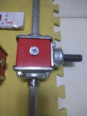 T2小型1:1直角齿轮箱1:1.5转向器锥齿轮减速机1:2变速箱 换向器